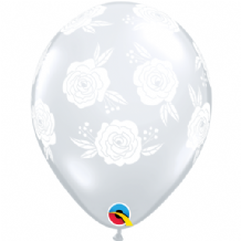 Roses In Bloom Balloons - 11 Inch Balloons 25pcs